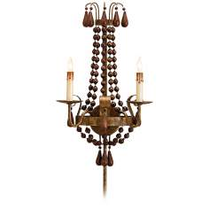 Currey and Company Nicolette Plug-In Wall Sconce
