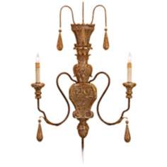 Currey and Company Mansion Plug-in Wall Sconce