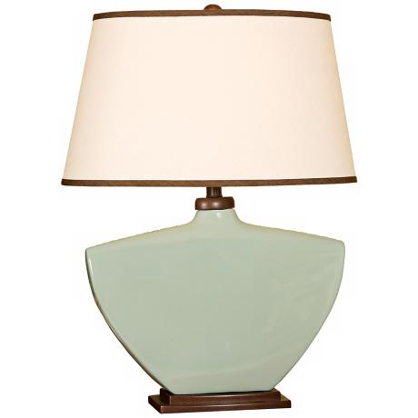 Splash Collection Aegean Curved Ceramic Table Lamp