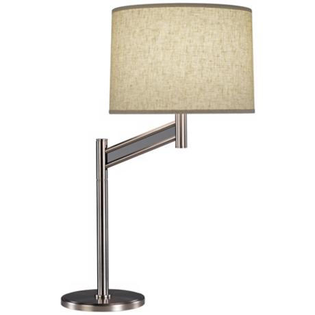 Robert Abbey Satin Nickel Anders Swing Arm Desk Lamp