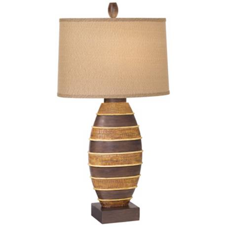 National Geographic Shield of Azande Table Lamp