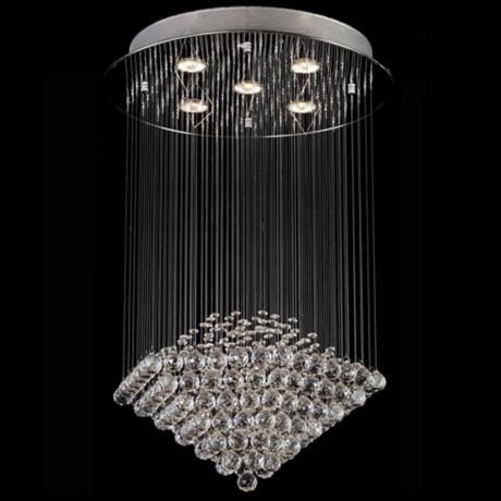 Clear Crystal Shower 5-Light Chandelier