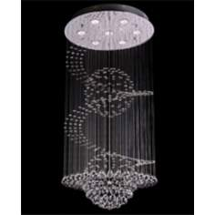 Swirling Crystal 7-Light Chandelier