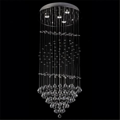 Clear Crystal Fountain 4-Light Chandelier