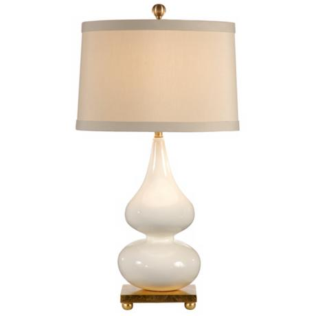Wildwood White Pinched Porcelain Vase Table Lamp