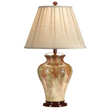 Wildwood Drop Down Colors Hand-Painted Porcelain Table Lamp