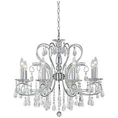 8-Light Chrome Finish Crystal Chandelier