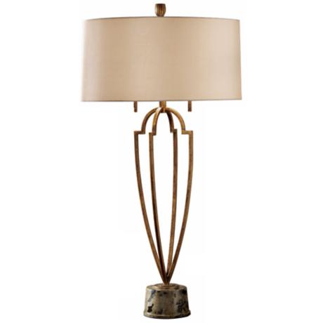 Ansari Collection Gold and Brown Table Lamp