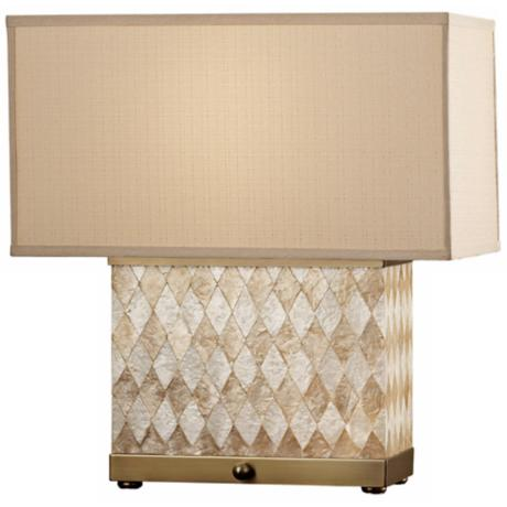 Nevena Collection Harlequin Natural Shell Table Lamp