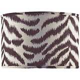 Black and Tan Zebra Shade 16x16x12 (Spider)