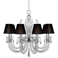 "Derry Street Crystal Arms 32"" Wide Large Black Chandelier"