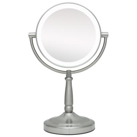 Cordless LED Lighted Pivoting 7 Wide Vanity Mirror P4741