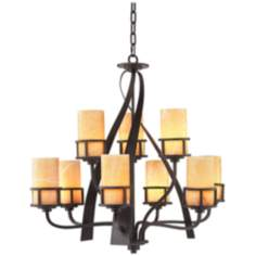 Kyle Imperial Bronze 2-Tier Chandelier