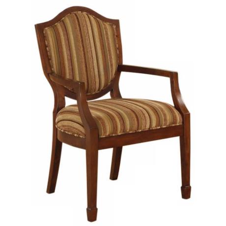 Hampton Carousel Brass Accent Chair