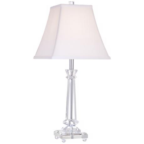 Tapered Crystal Column Lamp