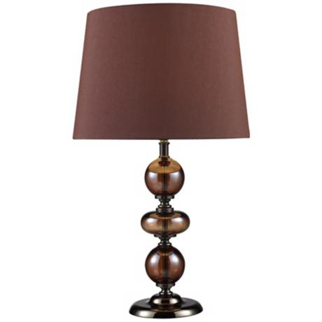 Bronze and Coffee Plated Finish Table Lamp
