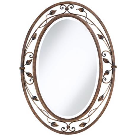 "Eden Park Collection Oval 34"" High Wall Mirror"