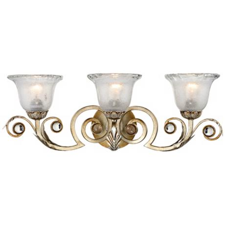 "Kathy Ireland Tres Illuminacion Silver 26 1/2"" Bath Light"