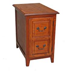 Leick Furniture Shaker Style Oak Finish Cabinet End Table