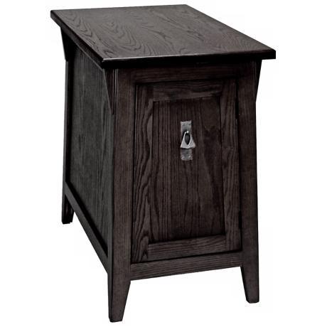 Leick Furniture Slate Finish Mission End Table