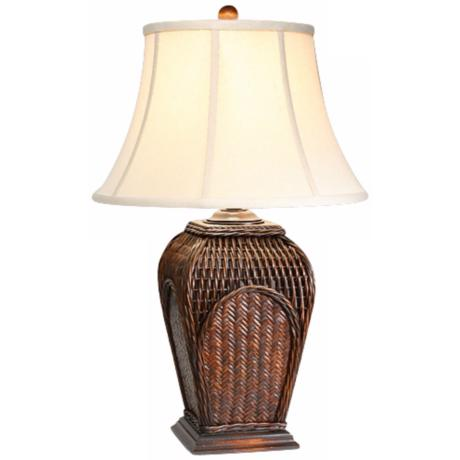 natural light bayside woven table lamp p5248. Black Bedroom Furniture Sets. Home Design Ideas
