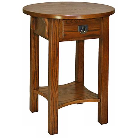 Leick Furniture Anyplace Russet Finish Round Side Table