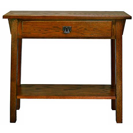 Leick Furniture Mission Style Russet Hall Stand Table
