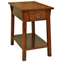 Leick Furniture Russet Finish Mission Chairside Accent Table