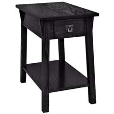 Leick Furniture Slate Finish Mission Chairside Accent Table