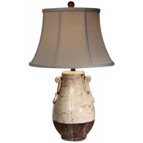 Natural Light Creamery Pot Ceramic Table Lamp