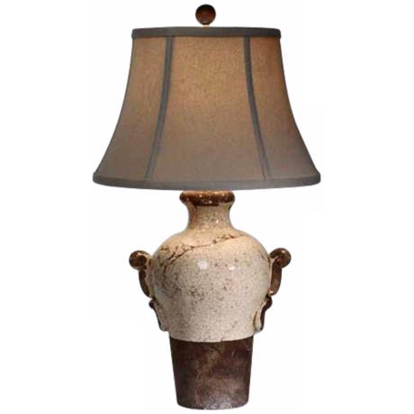 Natural Light Creamery Vase Ceramic Table Lamp