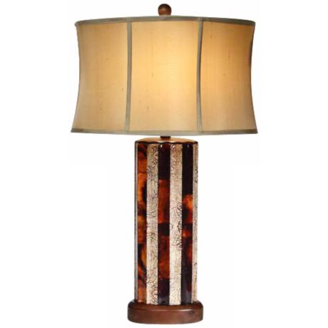 Natural Light Neapolitan Oval Ceramic Table Lamp