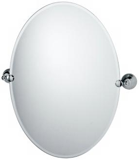 Gatco Charlotte Polished Chrome Finish Oval Tilt Wall Mirror (P5320)
