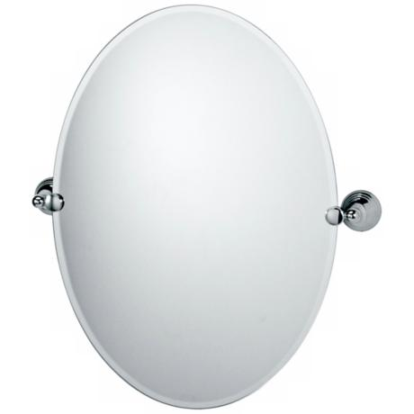 Gatco Charlotte Polished Chrome Finish Oval Tilt Wall Mirror