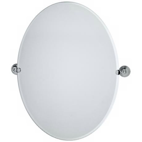 "Gatco Charlotte Polished Chrome Oval 32"" High Wall Mirror"