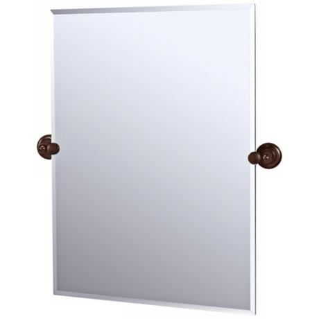 Gatco Tiara Bronze Finish Rectangular Tilt Wall Mirror
