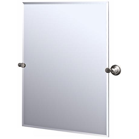 Gatco Tiara Satin Nickel Finish Rectangular Tilt Wall Mirror