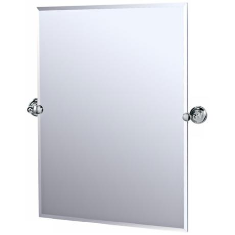 "Gatco Polished Chrome Tiara 31 1/2"" High Tilt Wall Mirror"