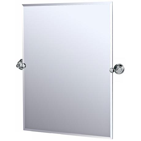 Gatco chrome tiara 31 1 2 high tilt vanity mirror - Bathroom mirror mounting hardware ...