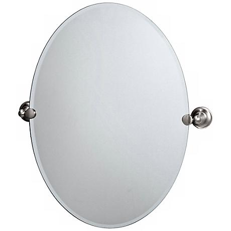 "Gatco Tiara Satin Nickel 26"" 1/2 Frameless Vanity Mirror"
