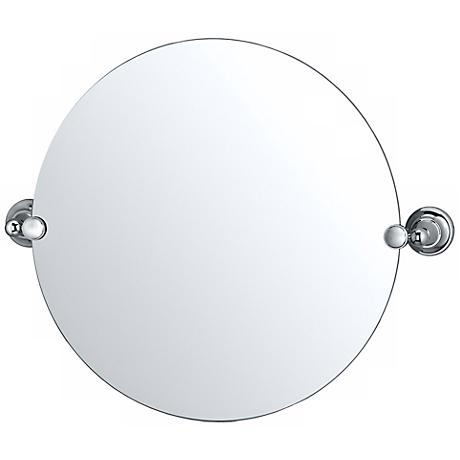 "Gatco Chrome Tiara 24"" Wide Round Mirror"