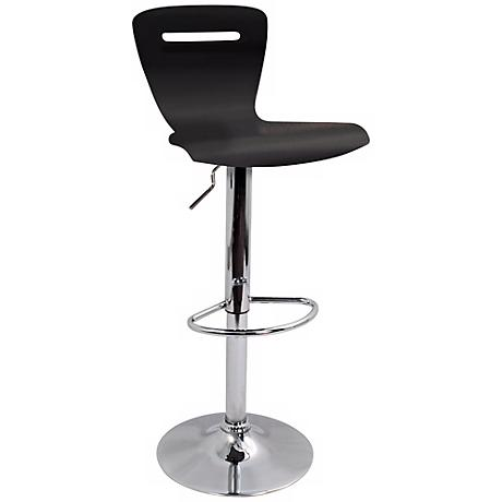 H2 Black Adjustable Bar or Counter Stool