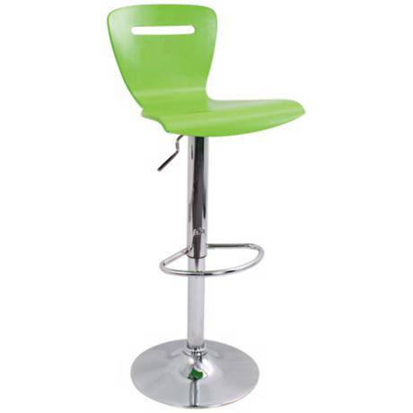 H2 Green Adjustable Bar or Counter Stool