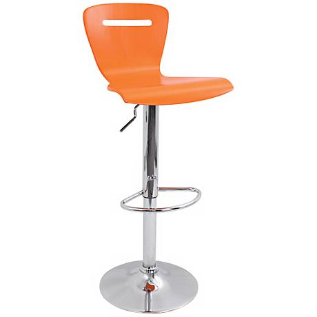 H2 Orange Adjustable Bar or Counter Stool