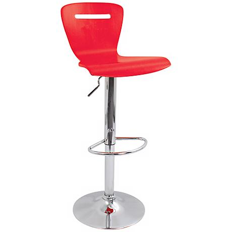 H2 Red Adjustable Bar or Counter Stool
