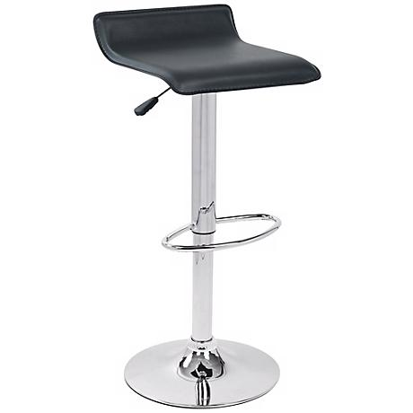 Ale Black Adjustable Counter or Bar Stool