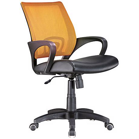 Officer Tangerine Orange and Black Adjustable Office Chair