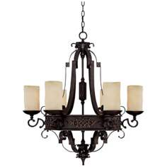 Capital River Crest Rustic Iron 6-Light Chandelier