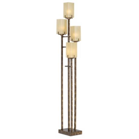 Kathy Ireland City Heights Copper Bronze Uplight Floor Lamp