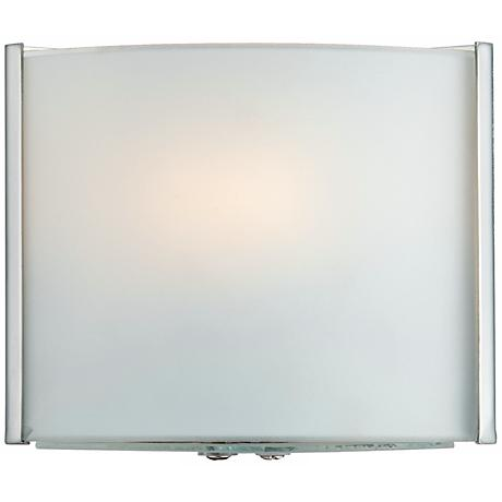 "Possini Euro Frosted Glass Bands 4 1/2"" High Wall Sconce"
